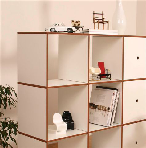 bauhaus regalsysteme bookshelf k1 regalfach bauhaus look. Black Bedroom Furniture Sets. Home Design Ideas